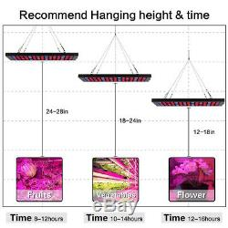 Hydroponique 600w Led Grow Light Full Spectrum Pour L'intérieur Veg Flower Lamp Usine