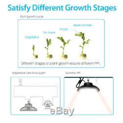 Hyperlite 200w Full Spectrum Led Grow Light Veg Fleur Plantlight Intérieur Extérieur