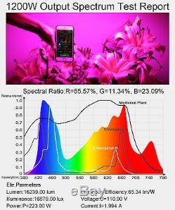 King 1200w Full Spectrum Led Grow Light Effet De Serre D'intérieur Veg Plantes Fleuries