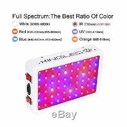 King Plus 600w Led Grow Light Full Spectrum Pour Plantes D'intérieur Veg Et Fleurs