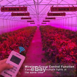 Led 1200w Télécommande Élèvent La Lumière Plein Spectre Lampe Réflecteur Pour Les Plantes Veg