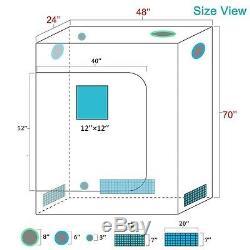 Mars 800w Led Grow Light Ir Veg Fleur Lampe Plante + 4 'x 2' X 6' Intérieur Cultivez Kit Tente