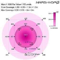Mars Hydro 1600w Led Grow Lampe + 5' X 5' Pousser Tente Kit Veg Bloom Pour Les Plantes