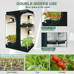 Mars Hydro 2 En 1 Tente De Culture Intérieure Pour Veg Flower Seed Reflective Mylar Home Box