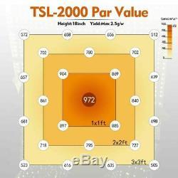 Mars Hydro Dimmable Tsl 2000w Led Grow Light Lumière Du Soleil Plantes D'intérieur Veg Fleurs