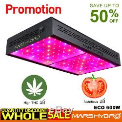 Mars Hydro Eco 600w Led Grow Light Indoor Usine Full Spectrum Ir Veg Panel Bloom