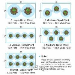 Mars Hydro Réflecteur 800w Led Grow Light Veg Fleur Plante + 4 'x 2' X 6' Kit Tente Cultiver