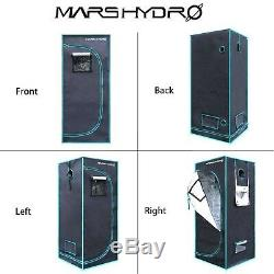 Mars Hydro Ts 1000w Set Led Grow Light Veg Bloom Plante + 2'x2'indoor Grandir Kit Tente
