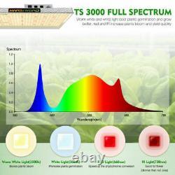 Mars Hydro Ts 3000w Led Grow Light Full Spectrum Pour La Fleur De Veg Des Plantes À L'intérieur