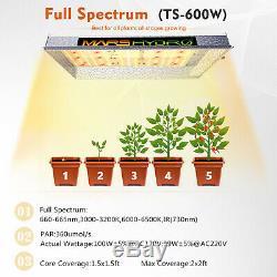 Mars Hydro Ts600w Led Grow Light Sunlike Full Spectrum Hydroponique Veg Fleur