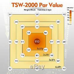 Mars Hydro Tsw 2000w Led Grow Light + 4'x4' Tente Intérieure Pleine Culture Kits Veg Fleurs