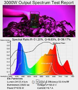 New 3000w Plus, Spectre Led Grow Light Hydroponique Pour Plantes D'intérieur Veg
