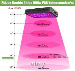 Phlizon 600w 900w 1200w Led Grow Light Lamp Indoor Full Spectrum Avec Veg Bloom