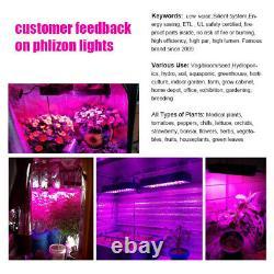 Phlizon 600w Led Grow Lampe De Lumière Plein Spectre Pour La Maison Des Plantes À L'intérieur Fleur De Veg
