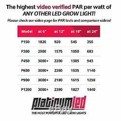 Platinum Series Avancée Cytochrome P450 450w 12 Bandes Led Grow Light Double Veg / Fleurs
