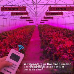 Réflecteur Contrôle À Distance 1200w Full Spectrum Led Grow Light Minut.lampe Veg Bloom