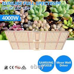 Sf 4000w Led Grow Light Samsungled Lm301b Intérieur Toutes Les Étapes Veg Flower Uk Stock