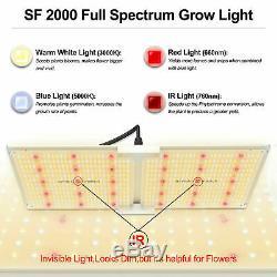 Spider Fermier 2000w Led Grow Light Led Samsung Lm301b Plantes D'intérieur Veg Fleurs