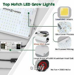 Spider Fermier 2000w Led Grow Light Samsung Lm301b Chips Veg Fleurs Plantes D'intérieur