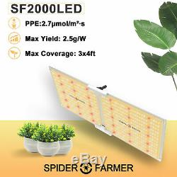 Spider Fermier 2000w Led Grow Light Samsungled Lm301b Plantes D'intérieur Veg Fleurs