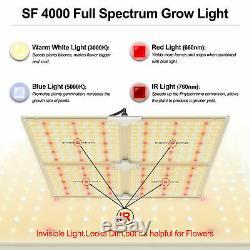 Spider Fermier 4000w Led Grow Light Samsungled Lm301b Toutes Les Étapes Veg Fleur Intérieur