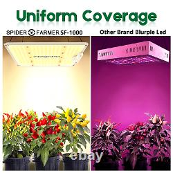 Spider Fermier Sf-1000 Led Grow Light Spectre Complet Plantes Lumières Accueil Veg Lampe