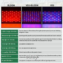 Tente De Croissance Intérieure 24''x24''x48'' + 1500w Led De Croissance Lumière Plein Spectre Veg Bloom