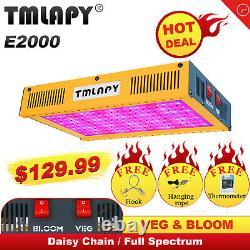 Tmlapy 2000w Led Grow Light Full Spectrum For Indoor Plants Veg&bloom Greenhouse