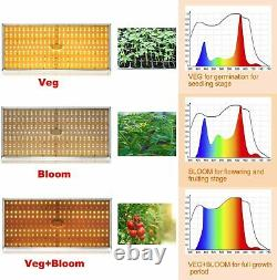 Tmlapy 3000w Led Grow Light Sunlike Full Spectrum For Indoor Plants Veg Bloom