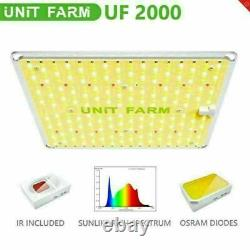 Unit Farm 2pcs Uf 2000w Led Grow Light Full Spectrum For Indoor Plant Veg Flower