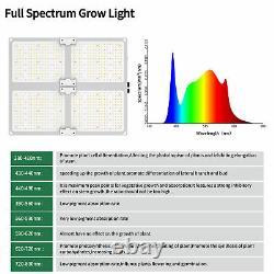 Usine Led Grow Light Sunlike Full Spectrum Dimmable Indoor Plants Veg Greenhouse