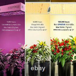 V99grow 1500w Led Grow Light Sunlike Full Spectrum Veg Flower Indoor Plants Us