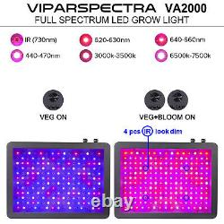 Viparaspectra Dimmable 600w 1000w 2000w Led Grow Cultiver La Lumière Pleine Spectre Veg Fleur