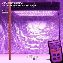 Viparspectra 2pcs 1200w Led Grow Light Full Spectrum Pour L'intérieur Plante Veg / Fleur