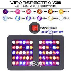 Viparspectra 300w Led Grow Light Full Spectrum Veg Fleur Pour Les Plantes Hydroponique