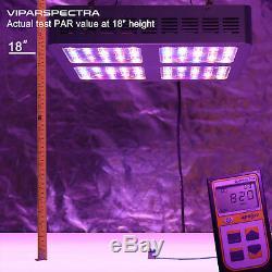 Viparspectra 600w Led Grow Pleine Lumière Plantes Spectre Veg Fleurs Replace Hps Hid