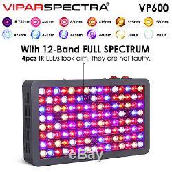 Viparspectra Dernières 600w Led Grow Light Full Spectrum Veg & Bloom Pour Plantes D'intérieur