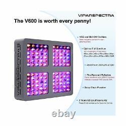 Viparspectra Led Grow Light 600w Full Spectrum Indoor Plants Veg Flower V600 Nouveau