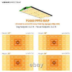 Viparspectra P2000 Led Grow Light Full Spectrum Pour L'intérieur Veg Fleurs Croissance