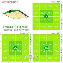 Viparspectra Pro Series P1000 Led Grow Light Sunlike Full Spectrum Pour Veg & Bloom