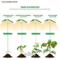 Viparspectra Pro Series P1500 Led Grow Light Sunlike Full Spectrum Pour Veg & Bloom