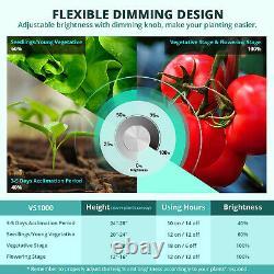 Viparspectra Vs1000 Led Grow Light Full Spectrum Samsung Lm301b Pour Veg Fleurs