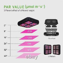 Vivosun 600w Led Grow Light Full Spectrum Avec Veg Bloom Switch Pour Plantes D'intérieur