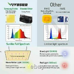 Vivosun Ts 1000w Led Grow Light Full Spectrum Indoor Tent Veg Flower Growing Us